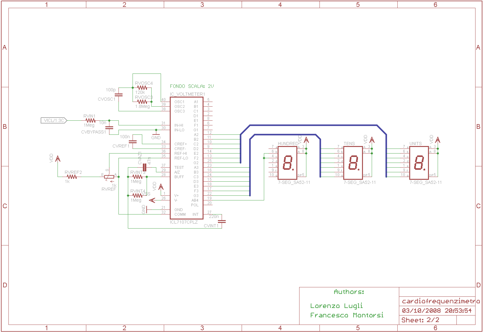 2nd schematic of heart rate monitor